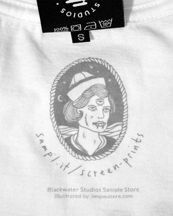Sailor Girl Inside Neck Screen Print