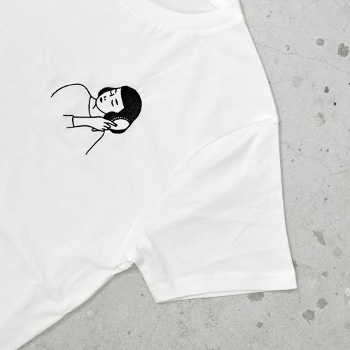 Embroidered T Shirt by Tallulah Fontaine