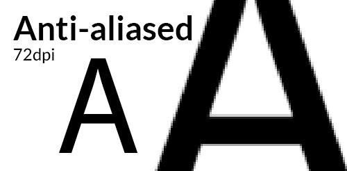 Anti-aliased text edges