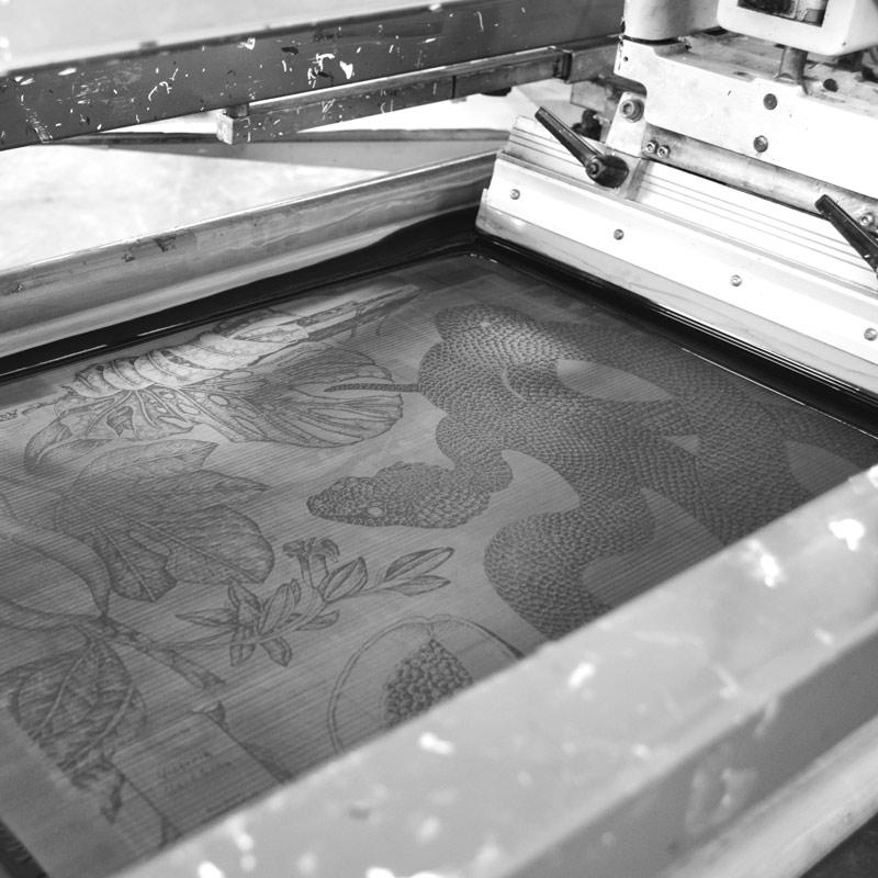 Screen Printing Machine - Water based inks