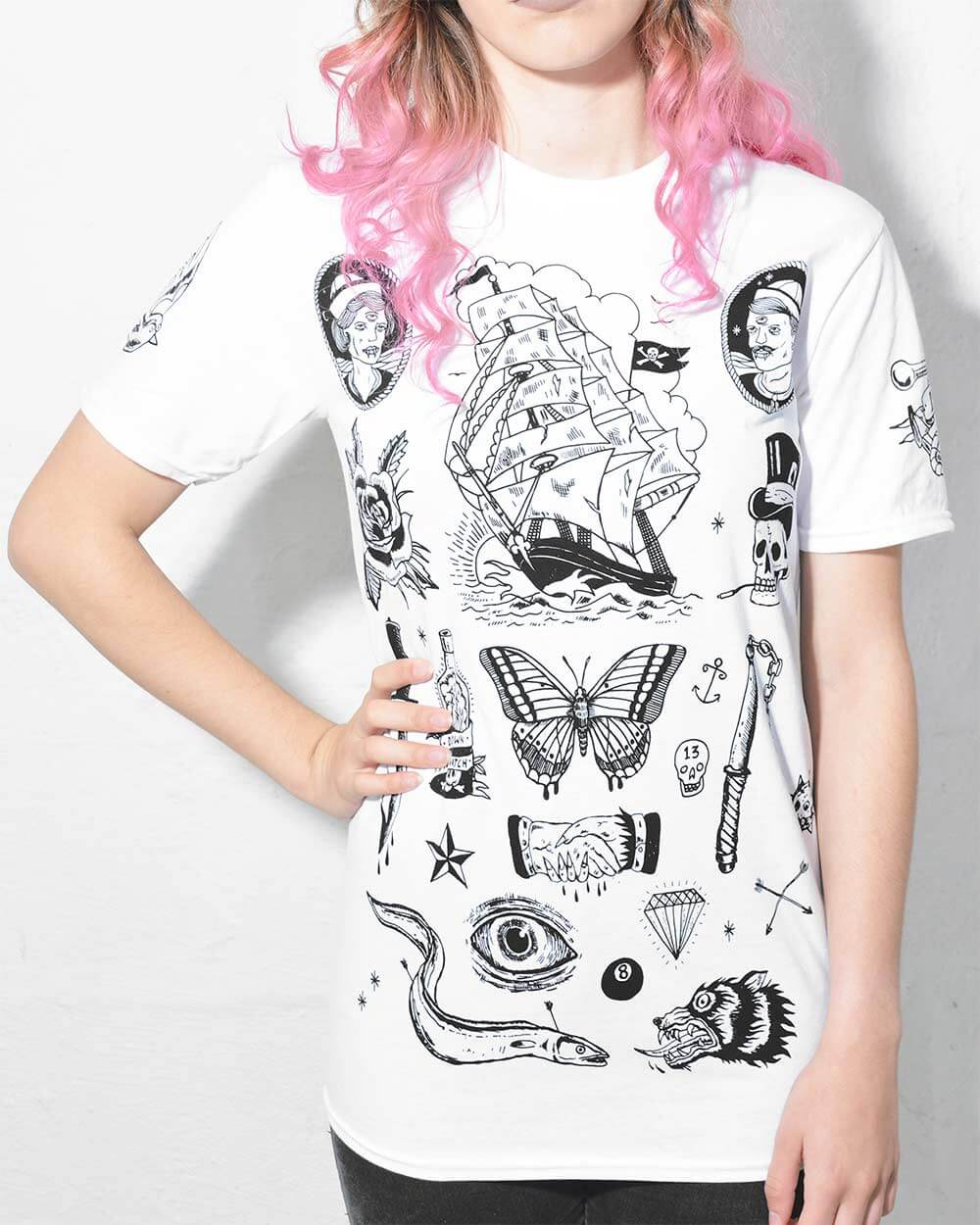 Front View of Tattoo T Shirt