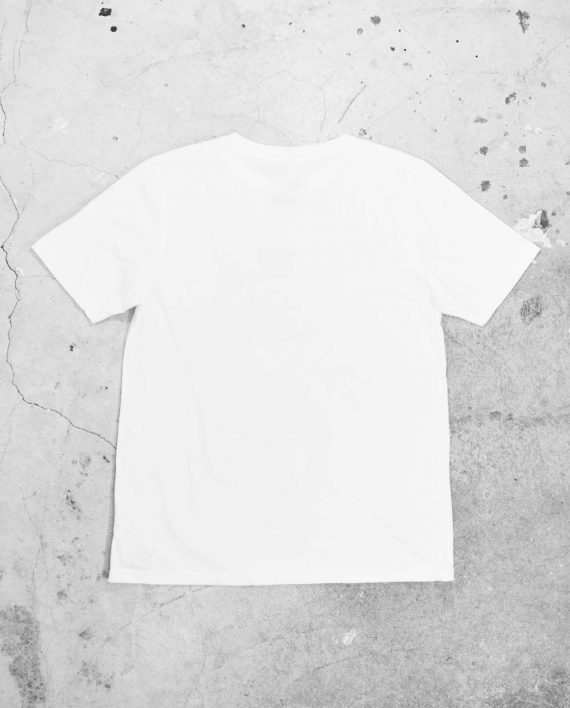 Back of Blank White Regular T Shirt