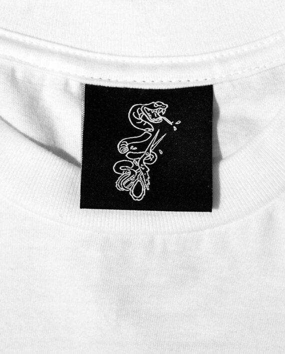 Woven Inside Neck Label of Snake