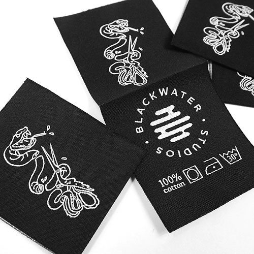 Snake Woven Label by Jeremie Rose