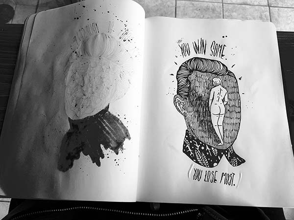 You Lose Most Sketchbook Spread by Ivo Matić